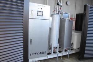 オゾン殺菌水供給装置:1.8㎥/hr  調理場所へは圧力給水です。